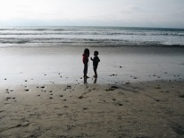 me and my younger brother at the beach